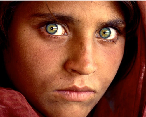 At The Nasir Bagh Refugee Camp In 1984 Gulas Photograph Was Taken By National Geographic Society Photographer Steve McCurry Image Of A Girls Face